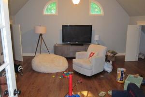 Attic Playroom Before